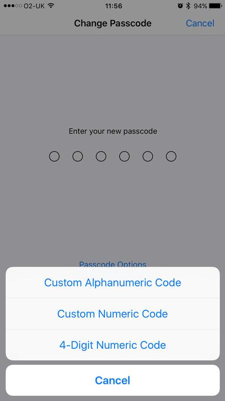 How to change iPhone or iPad six-digit passcode back to four: Settings