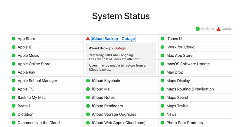 Apple device owners unable to restore from backup as iCloud outage continues [u]
